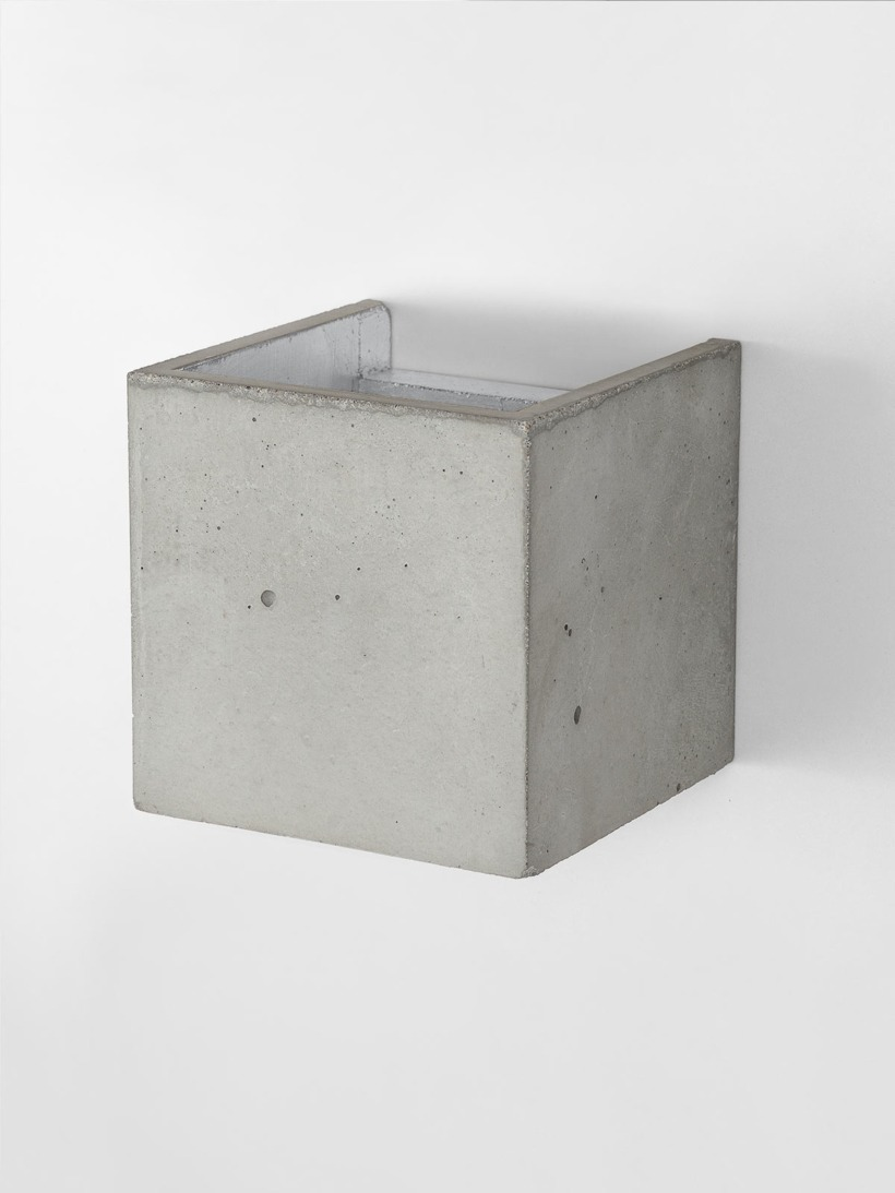 B3 Wandlampe Silber Beton