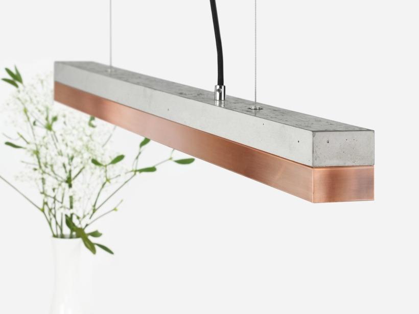 [C2]copper Pendelleuchte Kupfer klein